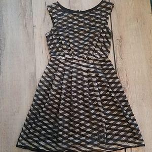 Adrianna Papell layered criss cross dress